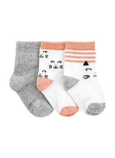 Carters Carter'S 3'Lü Bebek Çorabı 1J111210 Renkli